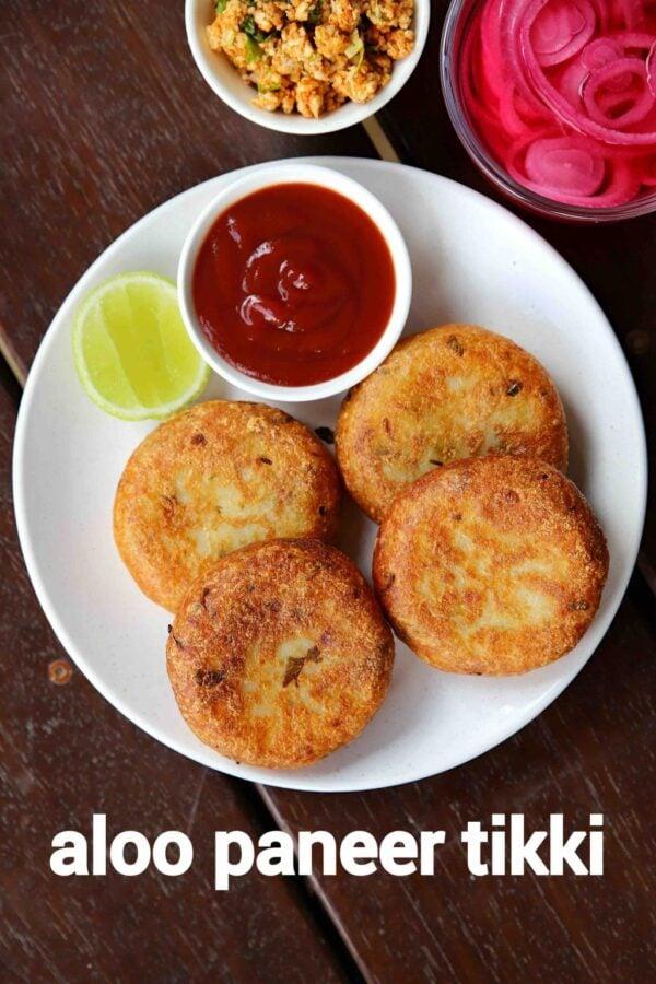 BEST Paneer Recipes - aloo paneer tikki.