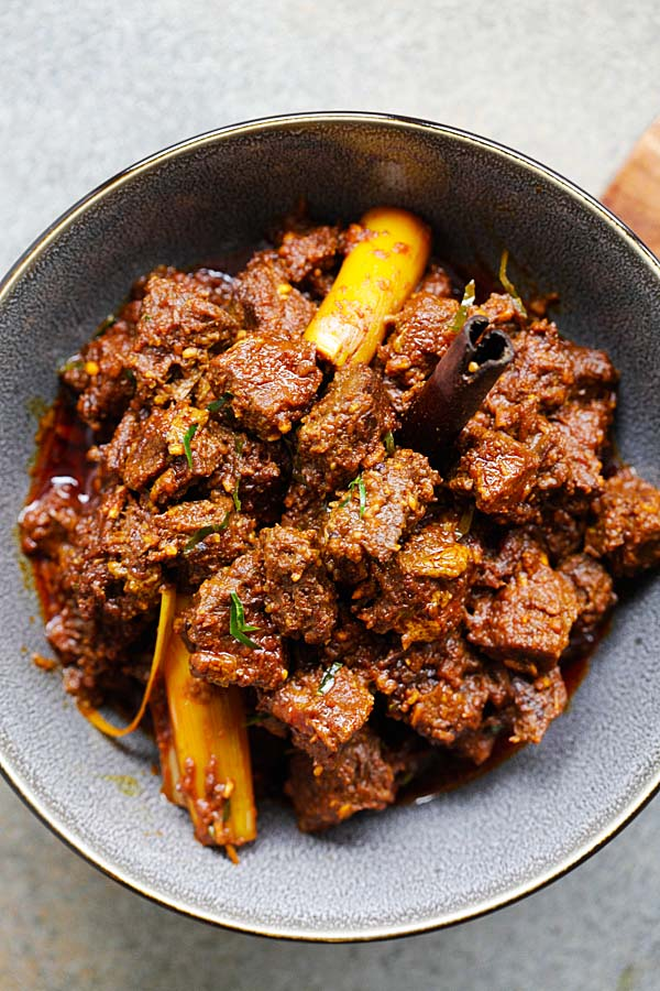 The 5 BEST Asian Recipes - beef rendang.