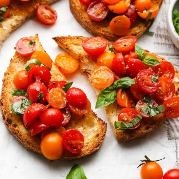 The 25 BEST Cherry Tomato Recipes - Cherry tomato bruschetta.