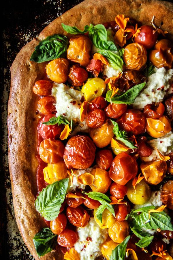 The 25 BEST Cherry Tomato Recipes - Cherry tomato pizza.