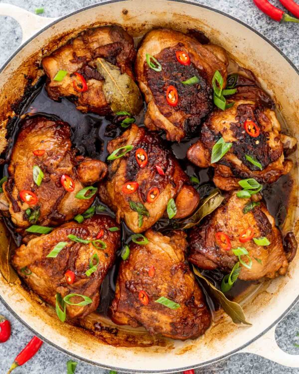 The 5 BEST Asian Recipes - chicken adobo.