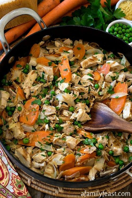 The 35 BEST Leftover Chicken Recipes - rotisserie skillet.