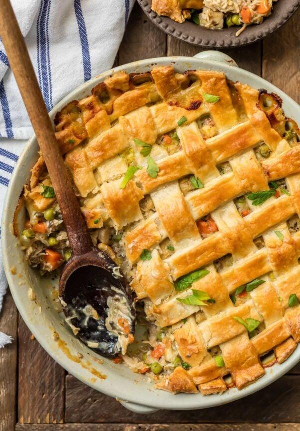 The 35 BEST Leftover Chicken Recipes - chicken pot pie.