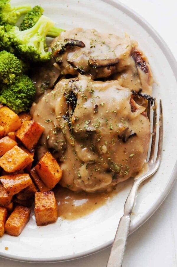 The 30+ BEST Ground Chicken Recipes - Salisbury steak.