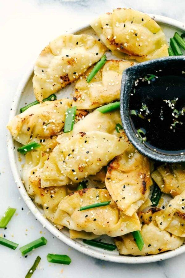The 30+ BEST Ground Chicken Recipes - Potstickers.