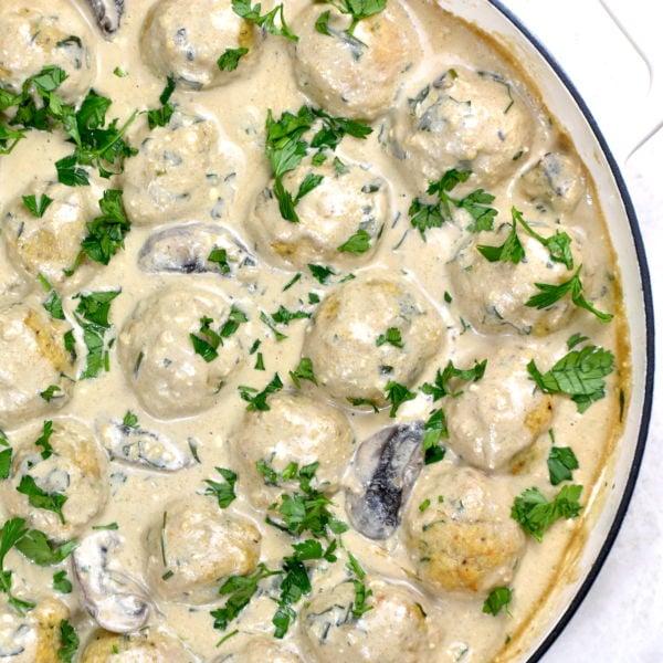 Creamy Parmesan Chicken Meatballs