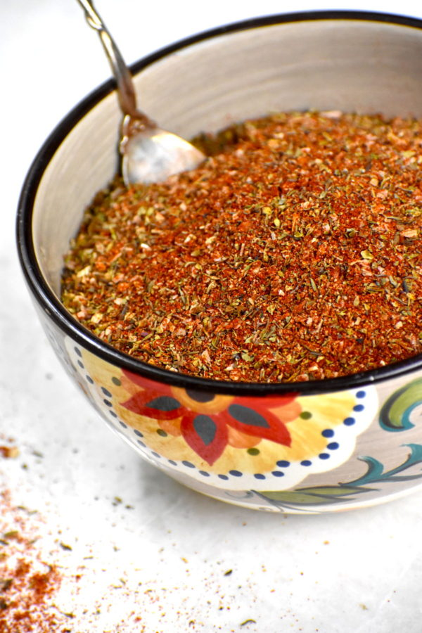 Creole seasoning in the Gypsy Bowl.