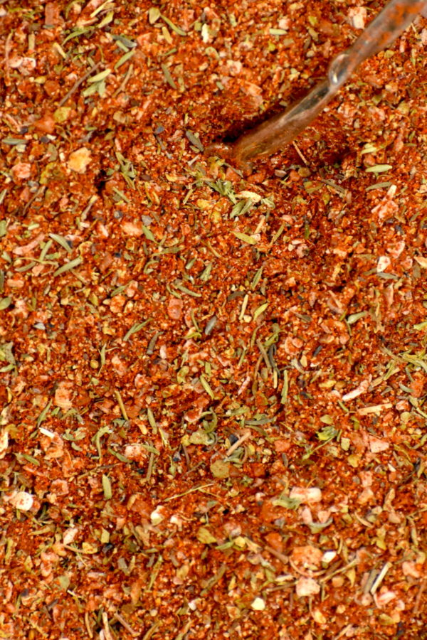 Close up of our Creole seasoning.
