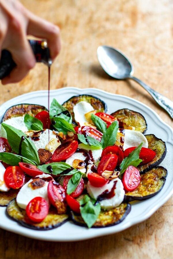 35 BEST Eggplant Recipes - caprese salad.