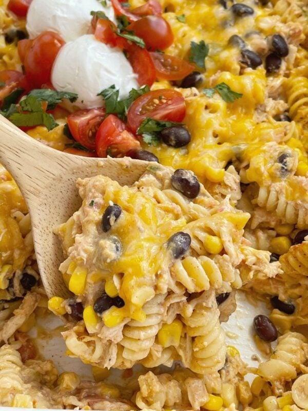 The 35 BEST Leftover Chicken Recipes - fiesta chicken casserole.