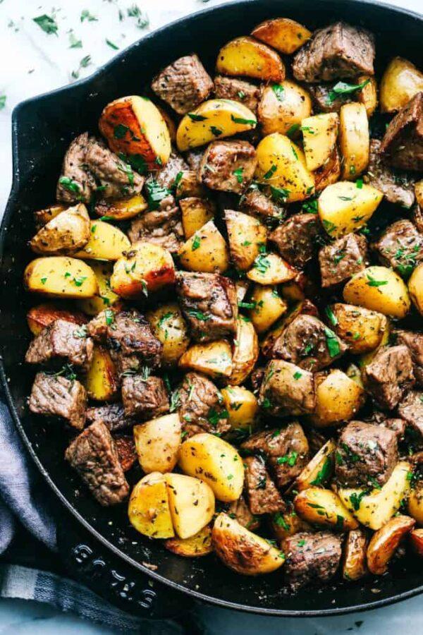 The 45 BEST Potato Recipes - steak bites.