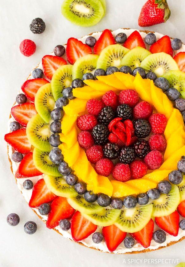 The BEST Mango Recipes - Vegan fruit pizza.