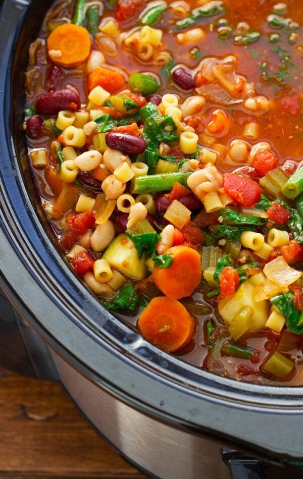 The 35 BEST Crockpot Soup Recipes - Minestrone.