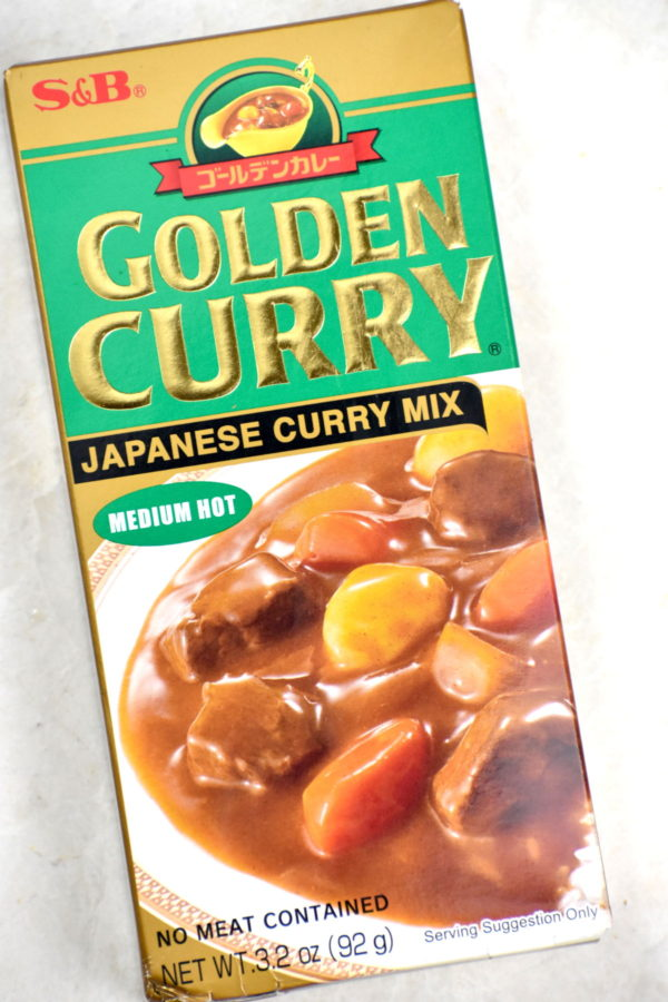 Box of S&B brand curry roux.