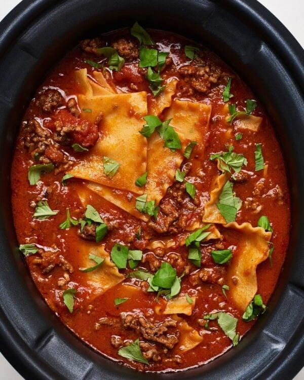 The 35 BEST Crockpot Soup Recipes - Lasagne soup.