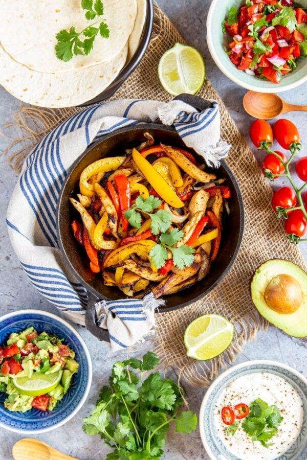 The 35 BEST Leftover Chicken Recipes - fajitas.