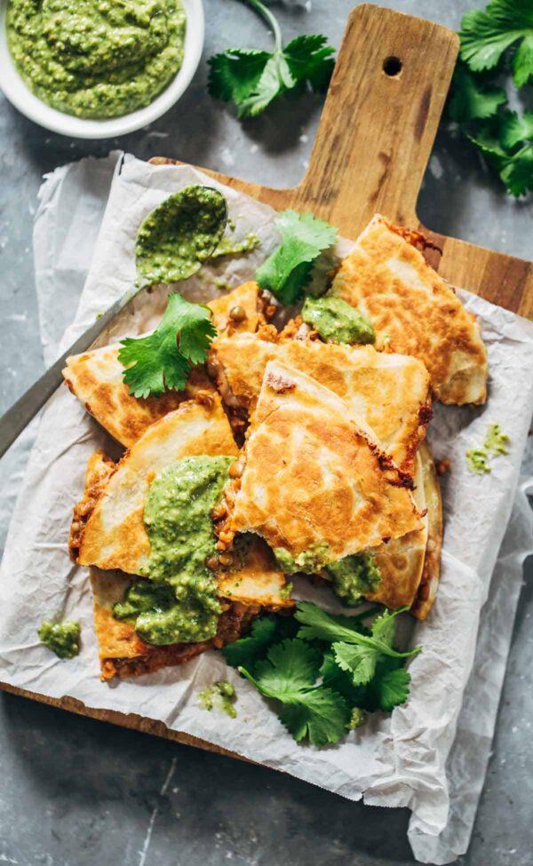 35 BEST Lentil Recipes - quesadillas.