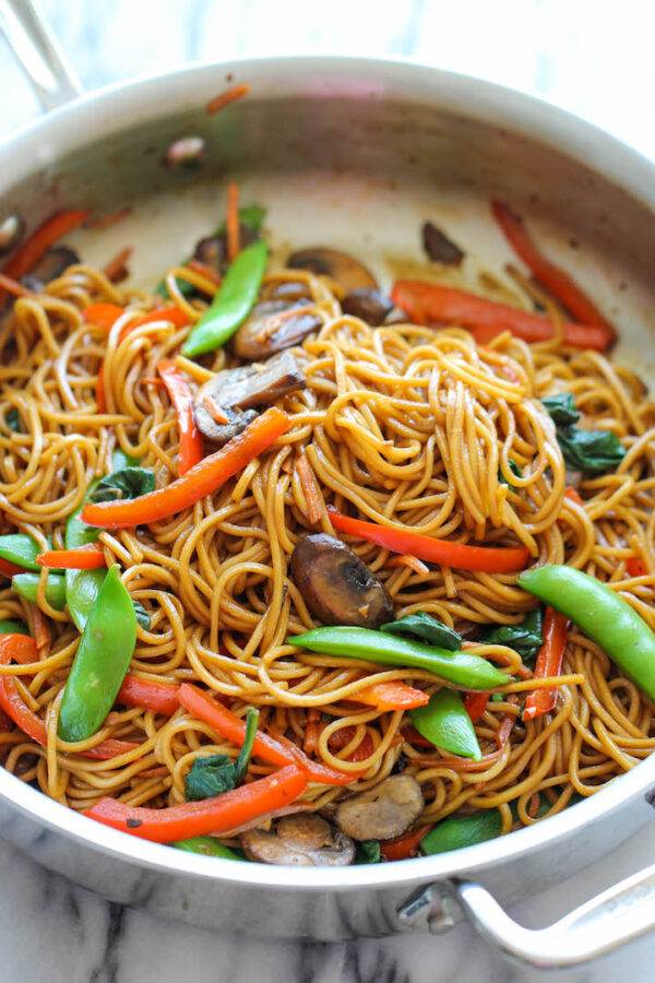 The 5 BEST Asian Recipes - lo mein.