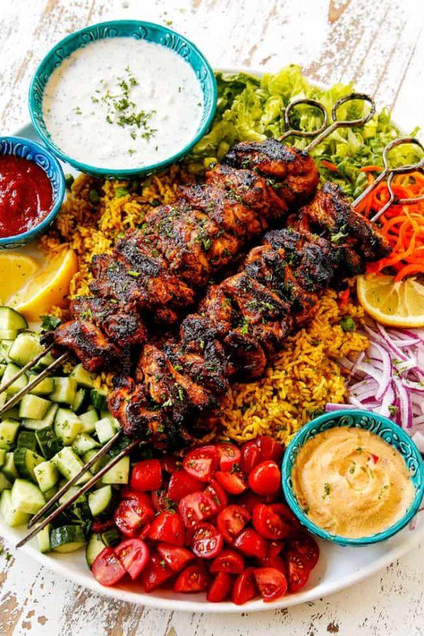 The 40 plus best Mediterranean recipes - Doner kebabs.