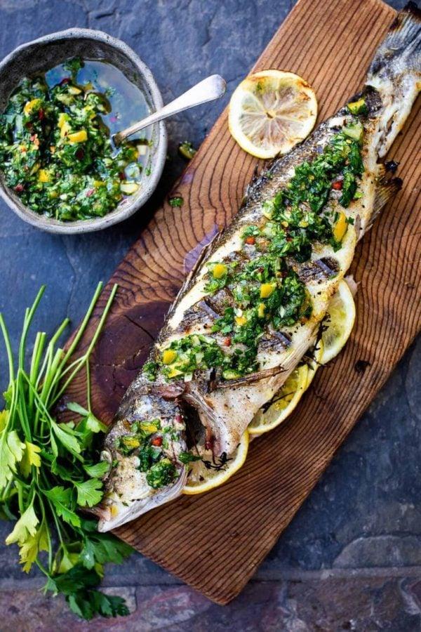 The 40 plus best Mediterranean recipes - Grilled branzino.