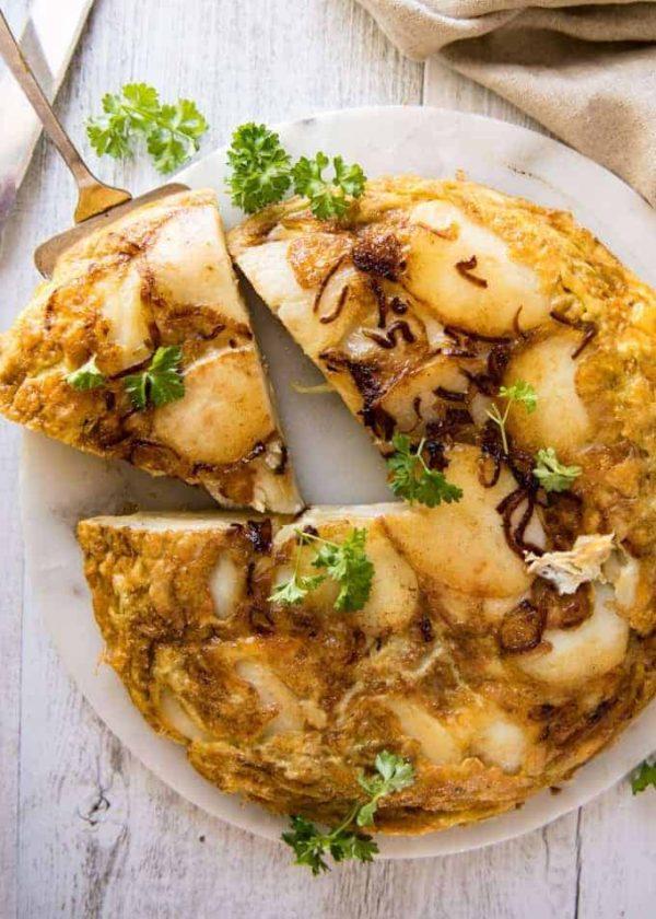 The 40 plus best Mediterranean recipes - Spanish omelette.