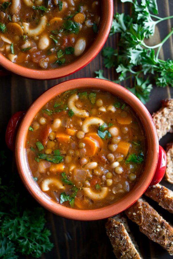 35 BEST Lentil Recipes - minestrone.