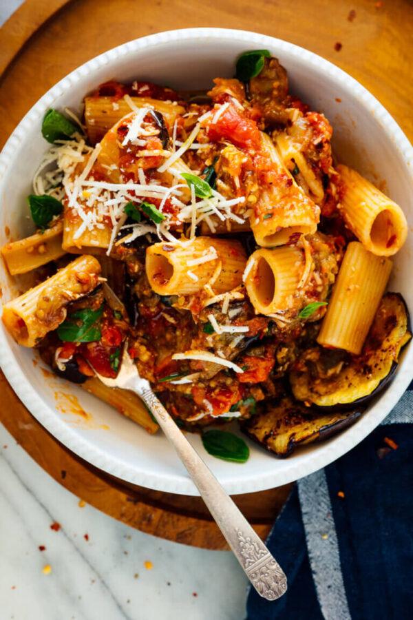 35 BEST Eggplant Recipes - pasta alla norma.