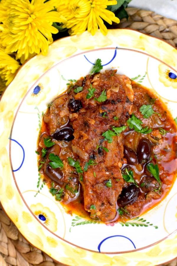 The 40 plus best Mediterranean recipes - Psari plaki.