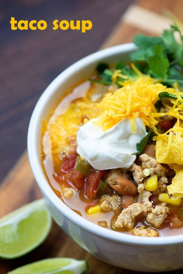 The 30+ BEST Ground Chicken Recipes - Taco soup.