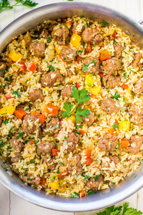 The 35+ BEST Sausage Recipes - Easy skillet.