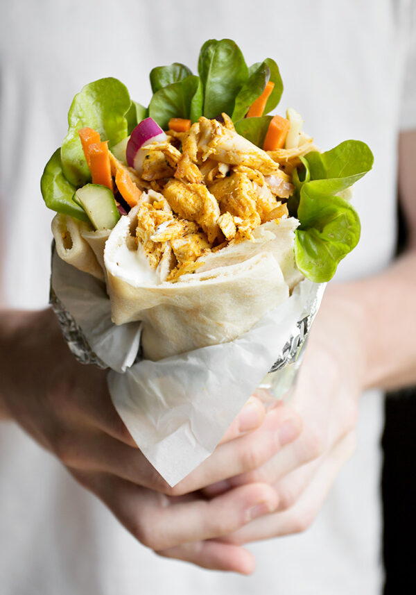 The 35 BEST Leftover Chicken Recipes - shawarma wraps.