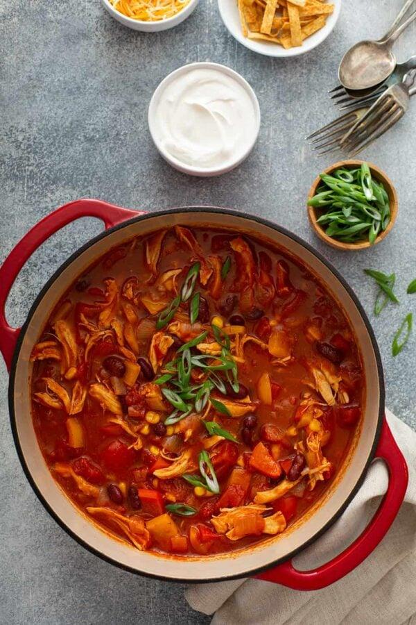 The 35 BEST Leftover Chicken Recipes - chicken chili.