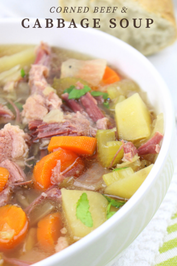 The 35 BEST Crockpot Soup Recipes - Corned beef and cabbage soup.
