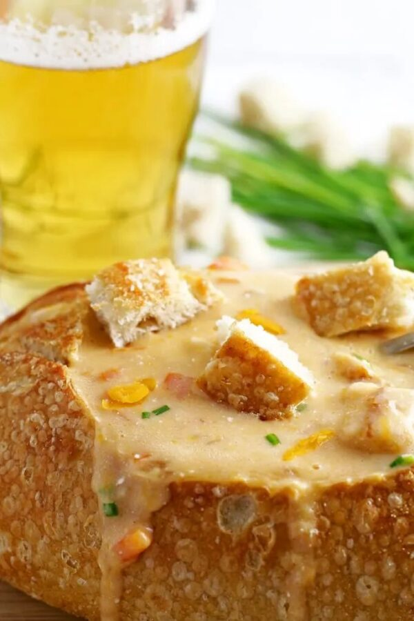 The 35 BEST Crockpot Soup Recipes - Beer cheese soup.