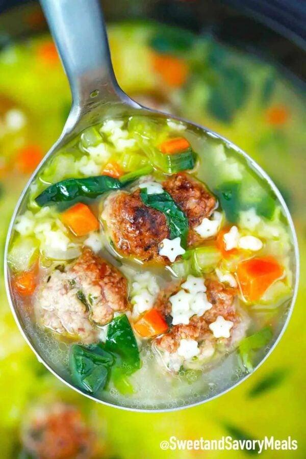 The 35 BEST Crockpot Soup Recipes - Italian wedding soup.