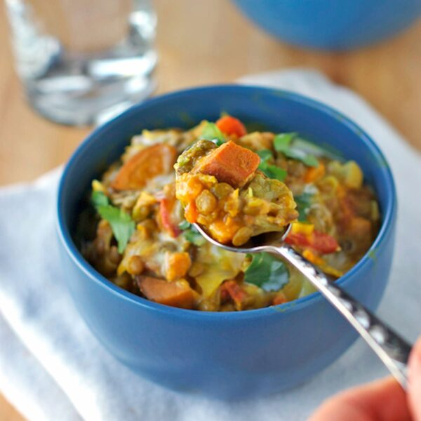 35 BEST Lentil Recipes - Thai sweet potatoes and lentils.