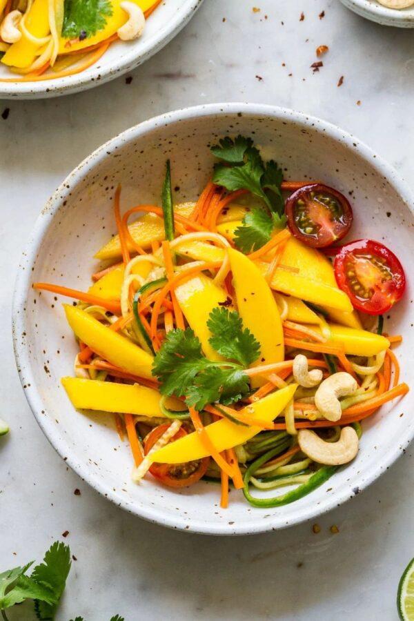 The BEST Mango Recipes - Thai mango salad.