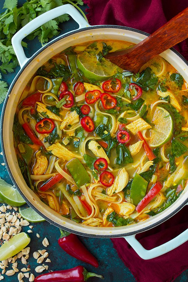 The 35 BEST Leftover Chicken Recipes - Thai soup.
