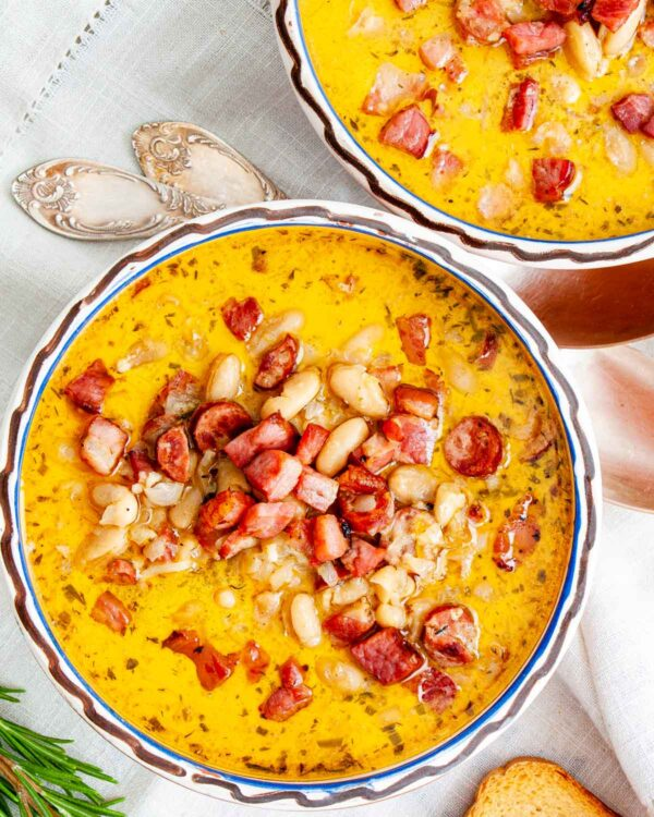 The 35+ BEST Sausage Recipes - Tuscan bean soup.