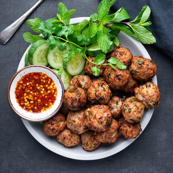 The 45+ BEST Meatball Recipes - Thai laab meatballs.
