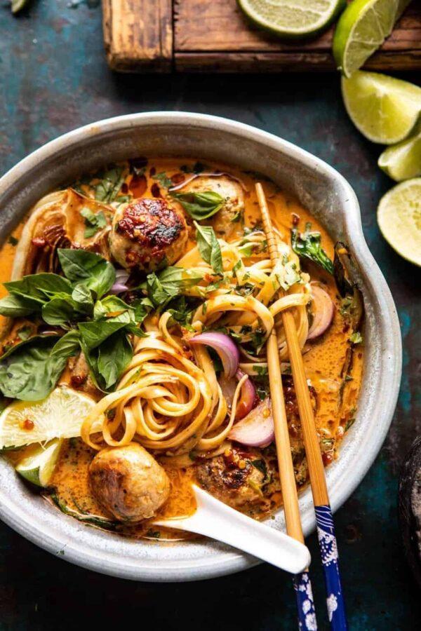 The 45+ BEST Meatball Recipes - Khao soi.