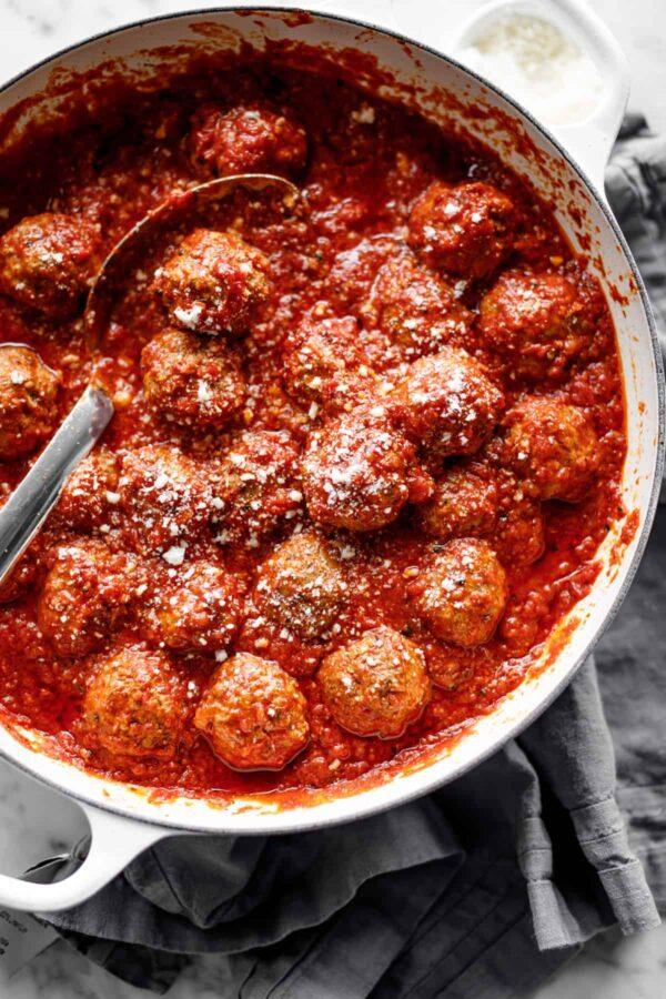 Baked meatballs.