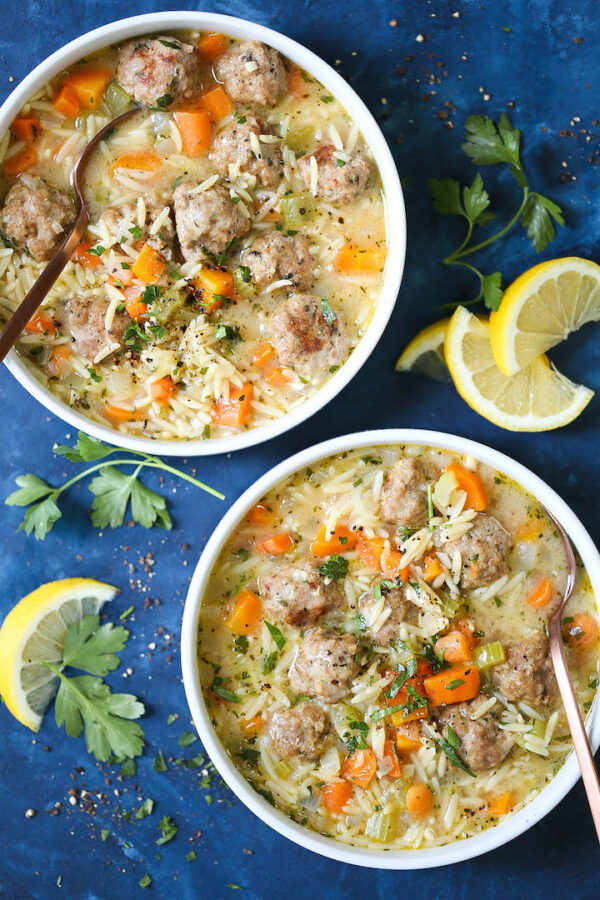 The 45+ BEST Meatball Recipes - Chicken meatball noodle soup.
