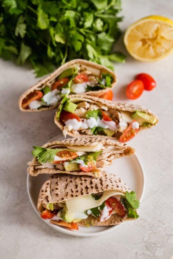 The 35 BEST Pita Recipes - chicken avocado sandwich.