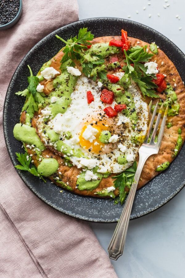The 35 BEST Pita Recipes - fried eggs with pita.