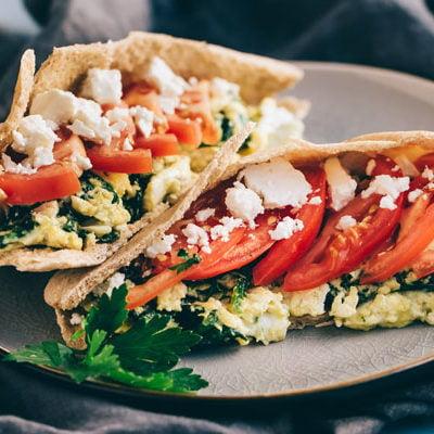 The 35 BEST Pita Recipes - breakfast pitas.