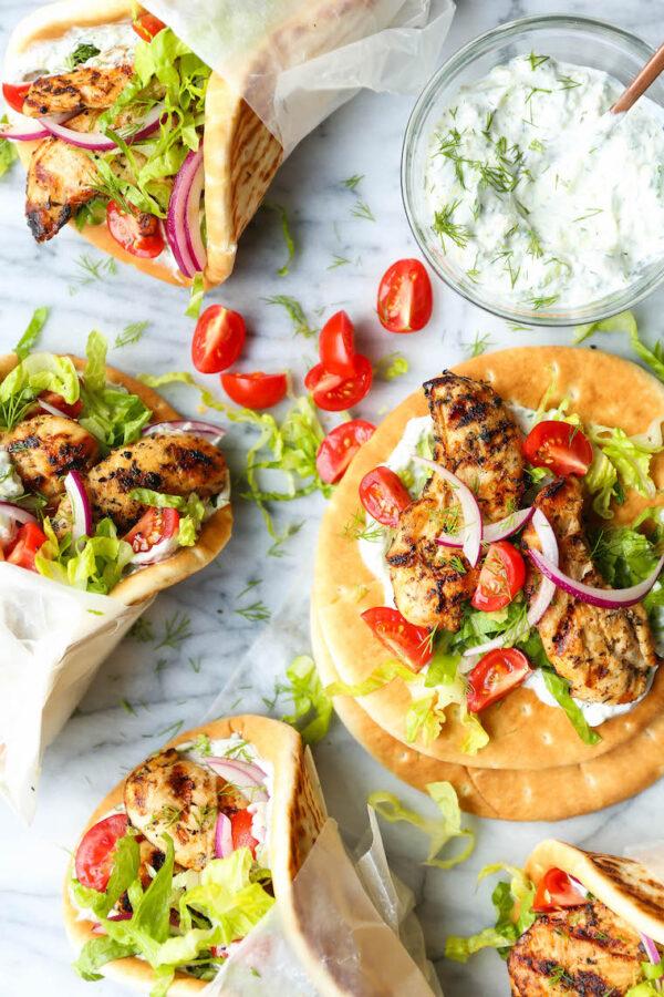 The 35 BEST Pita Recipes - chicken gyros.