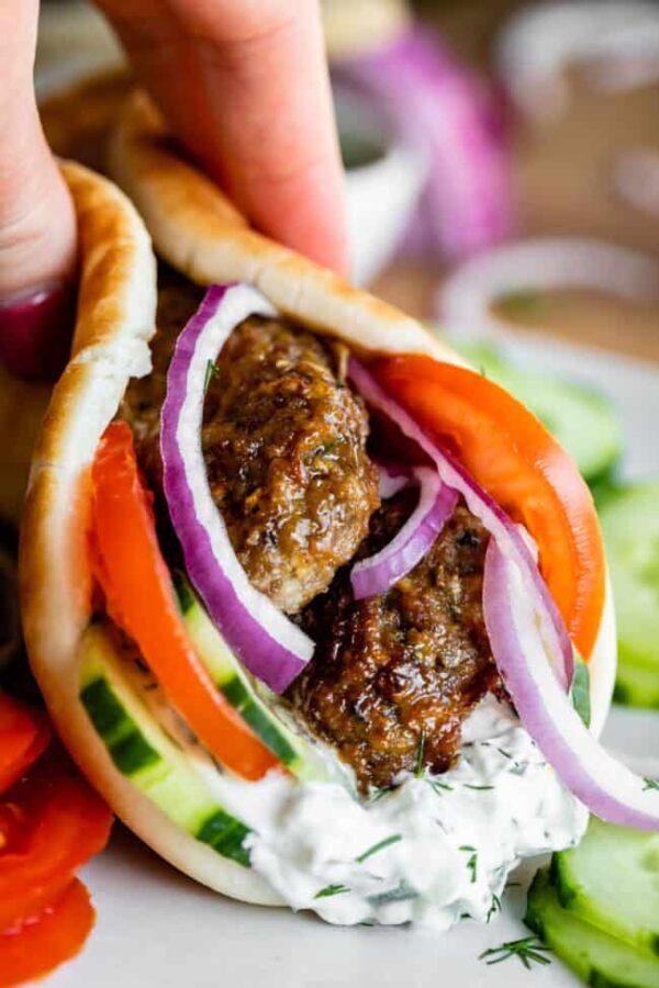 The 35 BEST Pita Recipes - Greek gyro.