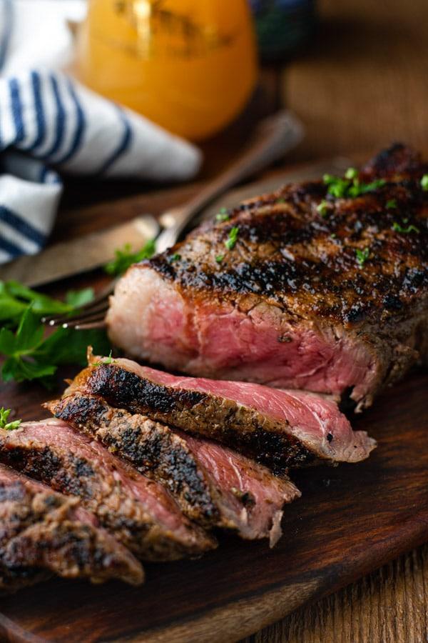 The 40 BEST Steak Recipes - grilled New York Strip.