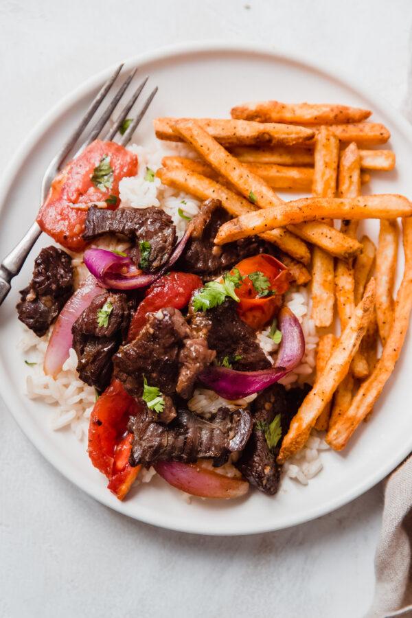 The 40 BEST Steak Recipes - lomo saltado.